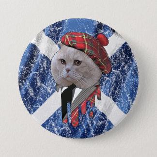 Badge Rond 7,6 Cm Chat écossais