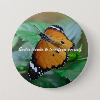 Badge Rond 7,6 Cm Citation africaine d'inspiration de papillon de