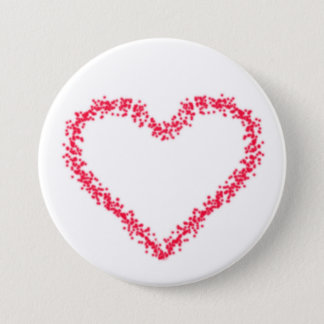 Badge Rond 7,6 Cm Coeur