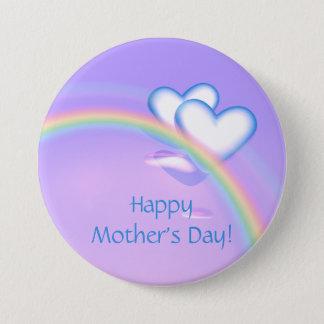 Badge Rond 7,6 Cm Coeurs de haut de jour de mères