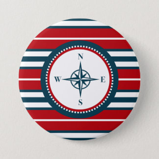 Badge Rond 7,6 Cm Conception nautique