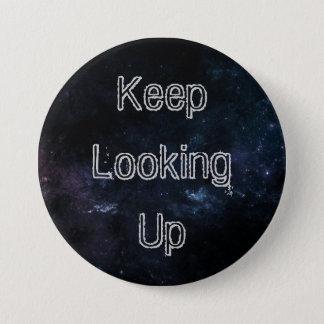 """Badge Rond 7,6 Cm """"Continuez à rechercher"""" le bouton III"""