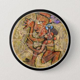 Badge Rond 7,6 Cm Couleur courante - bouton stupéfiant du Mexique