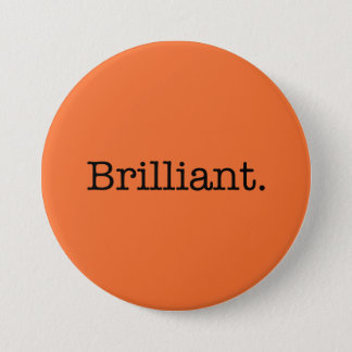 Badge Rond 7,6 Cm Couleur orange de tendance de mandarine brillante