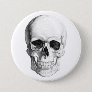 Badge Rond 7,6 Cm Crâne de sourire