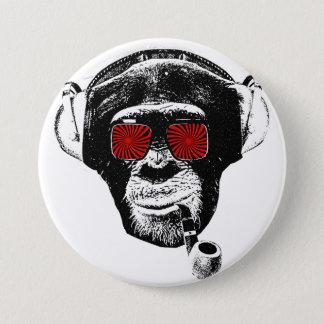 Badge Rond 7,6 Cm crazy monkey
