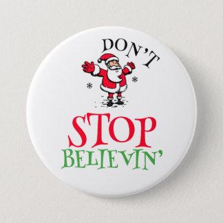 Badge Rond 7,6 Cm Croyez dans le bouton rond de Père Noël
