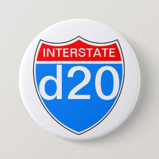 Badge Rond 7,6 Cm D20 d'un état à un autre