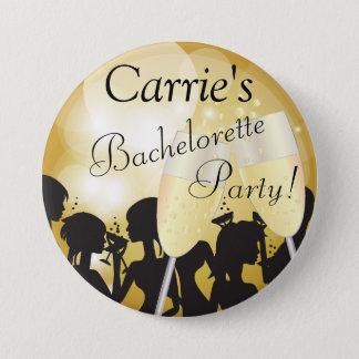 Badge Rond 7,6 Cm De filles de nuit partie de Bachelorette en or