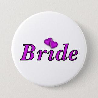 Badge Rond 7,6 Cm De jeune mariée amour simplement