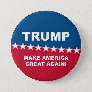 Badge Rond 7,6 Cm Donald Trump 2016