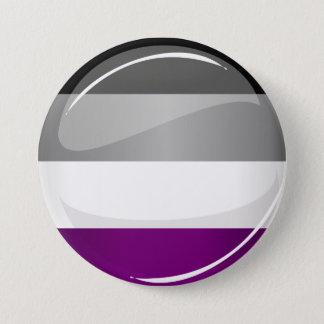 Badge Rond 7,6 Cm Drapeau asexuel brillant rond de fierté