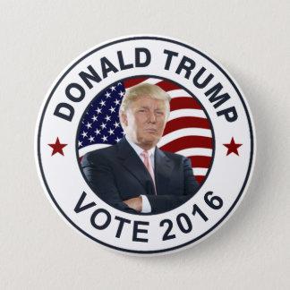 Badge Rond 7,6 Cm Drapeau de Donald Trump USA