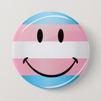 Badge Rond 7,6 Cm Drapeau de sourire rond brillant de transsexuel