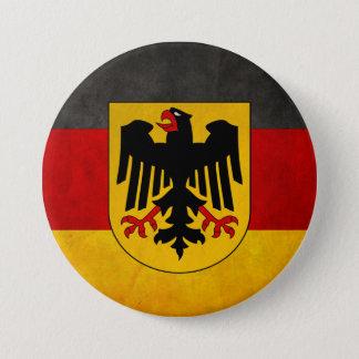 Badge Rond 7,6 Cm Drapeau grunge vintage du Deutschland de drapeau