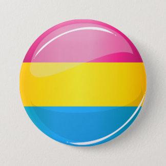 Badge Rond 7,6 Cm Drapeau Pansexual rond brillant de fierté
