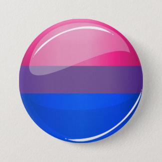 Badge Rond 7,6 Cm Drapeau rond brillant de bisexualité