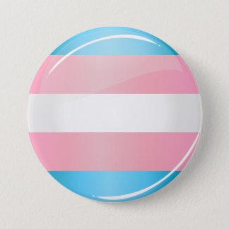 Badge Rond 7,6 Cm Drapeau rond brillant de fierté de transsexuel
