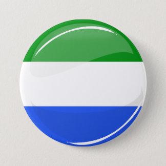 Badge Rond 7,6 Cm Drapeau rond brillant de Sierra Leone