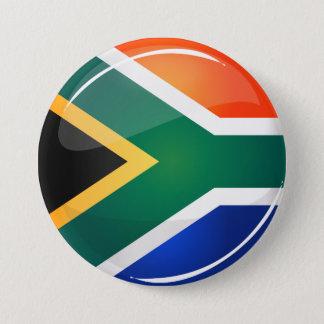 Badge Rond 7,6 Cm Drapeau sud-africain rond brillant