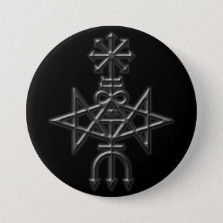 Badge Rond 7,6 Cm église traditionnelle de sigil satan
