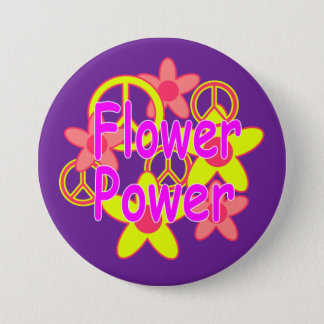 Badge Rond 7,6 Cm Flower power