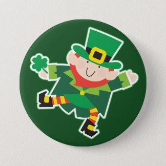 Badge Rond 7,6 Cm Gabarit irlandais de lutin