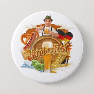 Badge Rond 7,6 Cm Grand bouton d'Oktoberfest