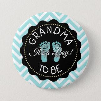 Badge Rond 7,6 Cm Grand-maman à être bouton de baby shower de