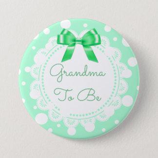 Badge Rond 7,6 Cm Grand-maman à être parties scintillantes d'arc de