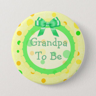 Badge Rond 7,6 Cm Grand-maman à être Pin jaune vert orange de baby