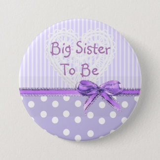 Badge Rond 7,6 Cm Grande soeur à être bouton de baby shower : Arc