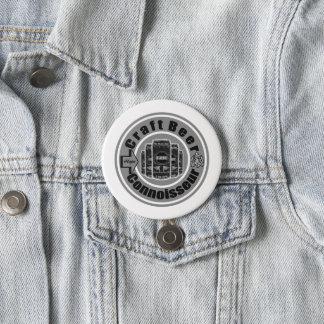 Badge Rond 7,6 Cm Gris de connaisseur de bière de métier