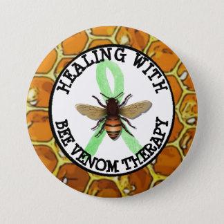 Badge Rond 7,6 Cm Guérison avec le bouton de ruban de Lyme de