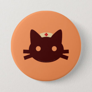Badge Rond 7,6 Cm Infirmière Kitty