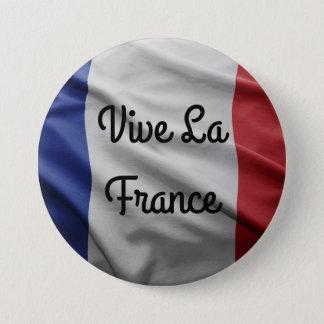 Badge Rond 7,6 Cm Insigne de la France de La de Vive