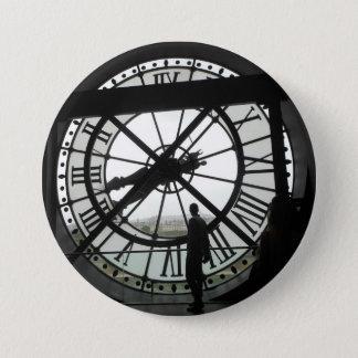 Badge Rond 7,6 Cm Insigne d'Orsay d'horloge de Musée