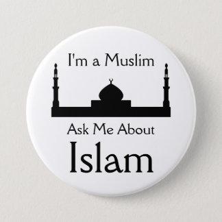 Badge Rond 7,6 Cm Interrogez-moi au sujet de l'Islam