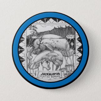 Badge Rond 7,6 Cm JACKALOPE la FLORIDE - encadrée