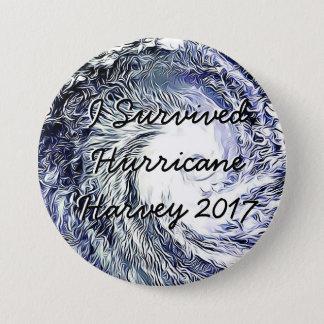 Badge Rond 7,6 Cm J'ai survécu au bouton de Harvey 2017 d'ouragan