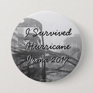 Badge Rond 7,6 Cm J'ai survécu au bouton d'Irma 2017 d'ouragan