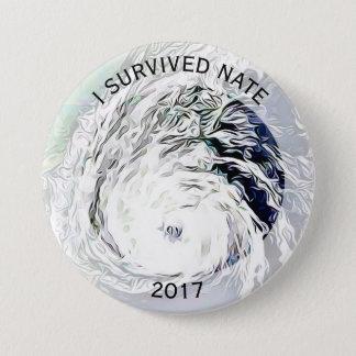 Badge Rond 7,6 Cm J'ai survécu au bouton tropical de tempête