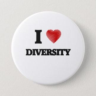Badge Rond 7,6 Cm J'aime la diversité