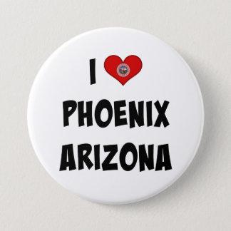 Badge Rond 7,6 Cm J'aime Phoenix, Arizona