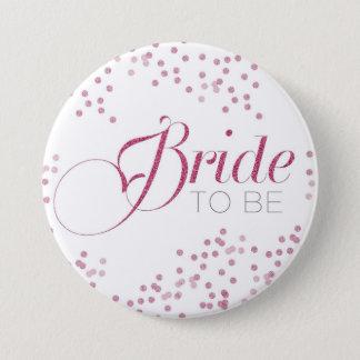 Badge Rond 7,6 Cm Jeune mariée à être bouton de partie de