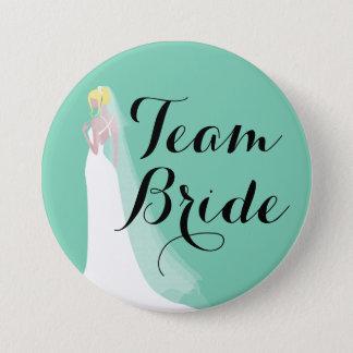 Badge Rond 7,6 Cm Jeune mariée de blonde de jeune mariée d'équipe