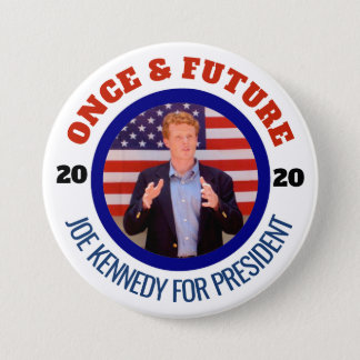 Badge Rond 7,6 Cm Joe Kennedy pour le président 2020