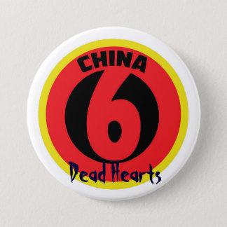 Badge Rond 7,6 Cm La Chine six boutons - romans morts de coeurs