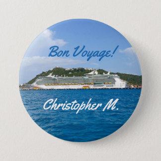 Badge Rond 7,6 Cm La liberté à St Martin a personnalisé le voyage de