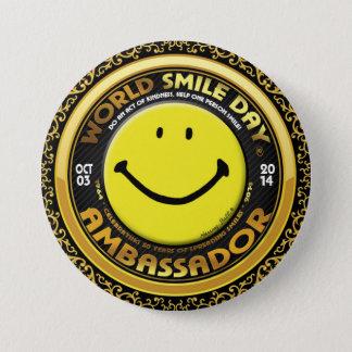 Badge Rond 7,6 Cm L'Ambassadeur 2014 officiel de Day® de sourire du